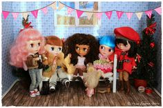 Welcome Harlow Party! | After  Zoe, Dylan and Poppy arrived at home from their school excursion, they welcome Harlow together with Bluebelle and Mr. Fuzzy Fabulous. | Flickr- Photo Sharing ❤️Welcome to my Blythe blog: http://www.heikeandreagrote.de/blythe.htm #blythe #blythedoll #blythecustom #heikeandreagrote #dolls #dollphotography #monchhichi #japan #doll #cute #kawaii #friends #fun #funny #pink #sweet #smile #art #cool #photo #pictureoftheday #photooftheday #bestoftheday #welcome