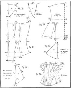 Patents of Old Corset pattern, shoulder-strapI love making doll corsets, properly boned doll corsets that is. I have a big pet peeve of unboned doll corsets fashion dolls have been ar.SPP 2009 Patterning the Corset I finally get to translate article Motif Corset, Corset Sewing Pattern, Pattern Drafting, Bra Pattern, Victorian Pattern, Victorian Corset, Diy Clothing, Clothing Patterns, Sewing Patterns