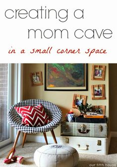creating a mom cave in a small corner space