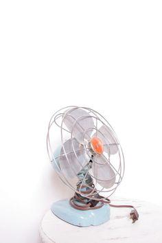 A Beautiful Retro Zero Baby Blue Air Fan