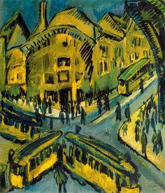 "Ernst Ludwig Kirchner ""Nollendorfplatz"" 1912 OIl on canvas, Stiftung Stadtmuseum, Berlin"