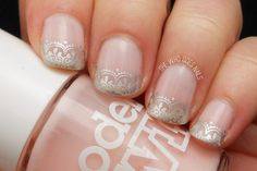 Wedding Nails Idea: Silver Lace