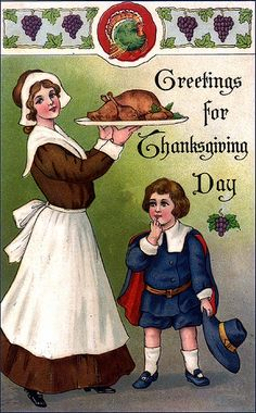 postcard.quenalbertini: Vintage Thanksgiving Card