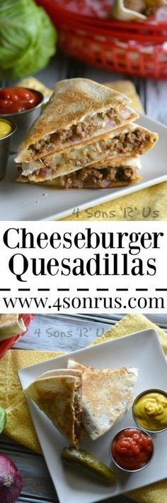 Love cheeseburgers? Love quesadillas? Then you're going to love their beautiful, yummy union in this quick and easy recipe. That juicy, cheesy burger you've been craving is now sandwiched in between two layers of crisp, golden tortillas. Cheeseburger Quesadillas are delectable, dip-able hybrid you're going to want again and again.