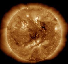A form of a face appears in the sun's surface