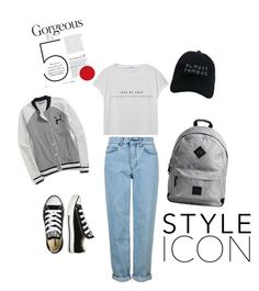 """""""Basic"""" by malina-dobrescu ❤ liked on Polyvore featuring Tommy Hilfiger, MANGO, Topshop, Converse and Nasaseasons"""