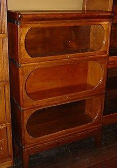 unusual quartered oak barrister bookcase round windows the canadian ebay34