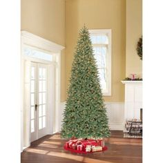 Holiday Time Pre-Lit 12' Williams Pine Artificial Christmas Tree, Clear Lights - Walmart.com