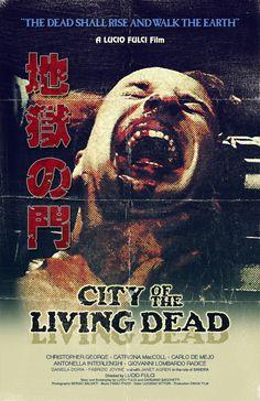 CITY OF THE LIVING DEAD Gates of Hell japan alternative poster art