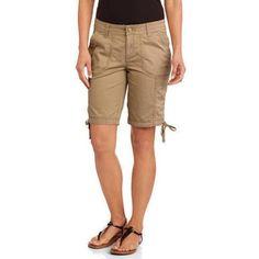 Faded Glory Women's Cargo Bermuda Shorts - Walmart.com