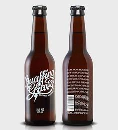 Quaffing Gravy's screen-printed labels.