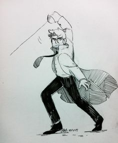 """teandstars: """" Fencing Ford?? O: my camera quality is awful… inktober 