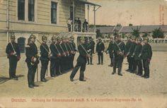 Dresden. Ablösung der Kasernenwache des K. S. 4. Feldartillerie-Regiments No. 48
