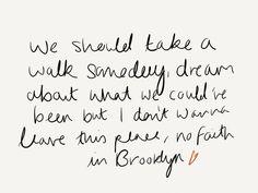 No faith in brooklyn ~Hoodie Allen