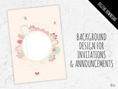 Floral Wreath Background Graphic