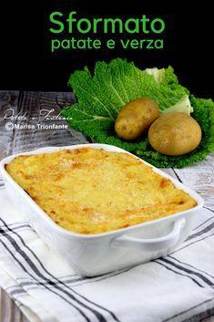 Sformato di patate e verza- Ricetta vegetariana #ricetta #ricettavegetariana #piattounico #verza #ricettafacile #ricettapiattounico #ricettaconverza #ricettaverdure #sformato #sformatopatate #cucinarelaverzapp