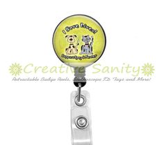 Retractable ID Badge Reel, I Save Lives! Support Spay and Neuter, Veterinary, Vet Tech, Animal Rescue, Dog Lover