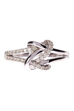 Sterling Silver Diamond Knot Ring - 0.25 ctw by Elani Jewelry on @HauteLook
