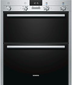 iQ500 HB43NB520B stainless steel  The built-in double multifunction oven for the 72cm niche enables you to cook multiple dishes simultaneously. Perfect for timing when cooking, the state-of-the-art electronic clock can be changed to suit the style of your kitchen. ecoClean coating inside the oven makes cleaning the oven easy. Perfect baking result on up to 2 shelves, 3D hot air cooking innovatively distributes the heat