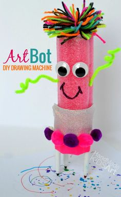 Diy Art Bot: Easy Art Project For Kids