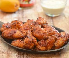 Sweet, sticky and slightly spicy, these Mango Habanero Chicken Wings paired with Curry Yogurt Mango Dip are lip-smacking, finger-licking addictive! Chicken Drumsticks, Chicken Wing Recipes, Chicken Meals, Honey Soy Chicken, Glazed Chicken, Mango Habanero Sauce, Chinese Cooking Wine, Sweet And Spicy, Kitchens