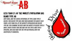blood type personality Blood Type Personality, Ab Blood Type, Ab Blood Group, Blood Groups, Nurses, Sagittarius, Did You Know, Psychology, Abs