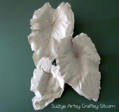 Plaster Casting Leaves Tutorial | Suzy's Artsy Craftsy Sitcom #plaster #wall art
