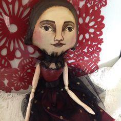Flora and Sadie handpainted cloth art doll