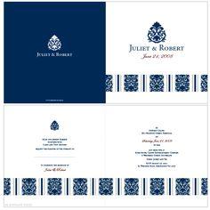 Bella Blue Wedding Invitation