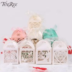FENGRISE 50pcs Mr Mrs Wedding Candy Box Sweets Gift Favor Boxes With Ribbon Party Decoration Wedding Gifts For Guests Favors-in Gift Bags & Wrapping Supplies from Home & Garden on Aliexpress.com | Alibaba Group