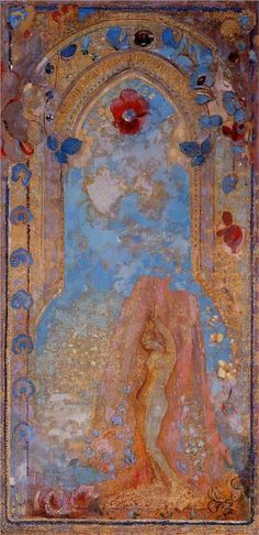 Style Art Nouveau (Modern) - Odilon Redon art-nouveau-how-i-love-you Art And Illustration, Illustrations, Art Nouveau, Art Deco, Art Amour, Art Magique, Odilon Redon, Gustav Klimt, Art Design