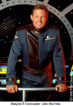 John Sheridan [Babylon is a healthy leader, in the style of Captain America… Bruce Boxleitner, Sience Fiction, Sci Fi Tv Series, Best Sci Fi, Babylon 5, And So It Begins, Fiction Movies, Epic Story, Superhero Movies