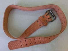 """Hasky 2"""" Saddle Leather Work Belt Carpenter Pocket Tool Storage Belt Holder…"""