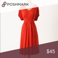 Anthropologie Red Dress This cute red dress is in perfect condition! It is by Deletta for Anthropologie. Anthropologie Dresses