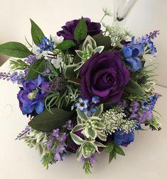 Rustic purple bouquet Purple Wedding Bouquets, Bridal Bouquets, Wedding Flowers, Reception Table Decorations, Love Flowers, Most Beautiful, Floral Wreath, Wreaths, Rustic