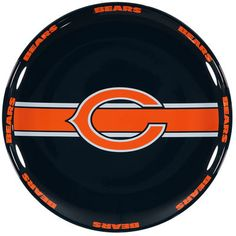 Serve up your favorite NFL Homegating dishes on this Chicago Bears ceramic serving plate.