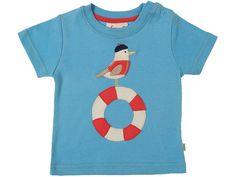 Frugi Kinder T-Shirt, Hellblau (Gr.4 (12-18 Monate))