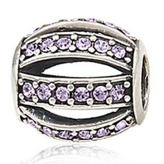 Everbling Leading Lady with Purple Austrian Crystal Authentic 925 Sterling Silver Charm Bead Fits Pandora Chamilia Biagi Troll Charms Europen Style Bracelets  Price : $17.99 http://www.everblingjewelry.com/Everbling-Austrian-Authentic-Sterling-Bracelets/dp/B00EDSQ5EK