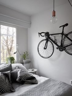A destination for the lovers of fashion, interior styling, and design. Bike Storage Mount, Bike Storage Room, Pool Table Room, Mtv Cribs, Interior Styling, Interior Design, Student Room, Desk Setup, Scandinavian Design