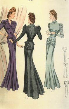 1940s French fashion plate. | followpics.co