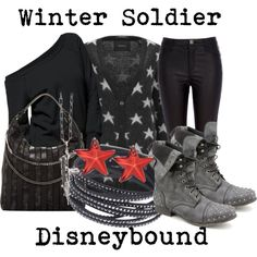 """Winter Soldier Disneybound"" by capamericagirl21 on Polyvore"