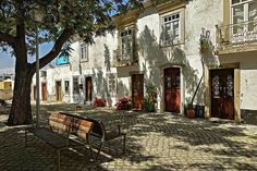 Shady Street In Tavira, Portugal Print by Barry O Carroll Fine Art America, Portugal, Street, Prints, Photography, Fotografie, Photograph, Roads, Photo Shoot
