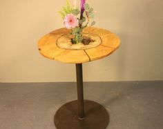 Hollow Log Bistro Table 2 by IsGoodWoodworksShop on Etsy