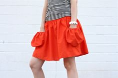 TUTORIAL: Summer Skirt with Deep Pockets | MADE by Dana.  This gal has great tutorials for women's, kids' and baby's clothes