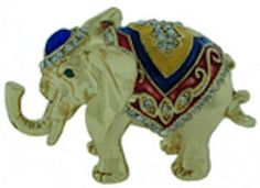 Elephant with jewels- Kubla Crafts Trinket Box - MIB BEAUTIFUL #3206   Can be found at www.pacifictraders.biz