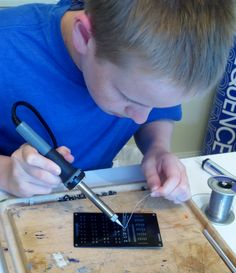 Kids Electronics Soldering Project: See Through Calculator!