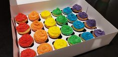 Rainbow cupcakes for 2nd birthday