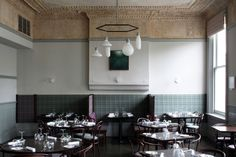 Form Pendants by Form Us With Love for Design House Stockholm. Chairs 14 and 30 by Michael Thonet. MS-DA architects renovated this Victorian former hotel, giving it a new lease of life with a fine dining restaurant on the first floor and private dining and function rooms on the second. The pub on the ground floor now has a terrace and beer garden. The Truscott Arms has been shortlisted for the 2014 Architects' Journal Small Projects Award.   Image via SCP contracts.