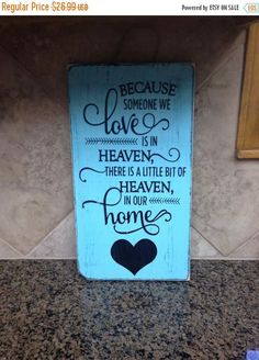 ON SALE distressed heaven sign  heaven sign  love sign