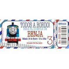 Invitaciones Tren Thomas personalizadas 12u - Decoracion Ambientacion Cotillón Fiestas y Cumpleaños                                                                                                                                                      Más